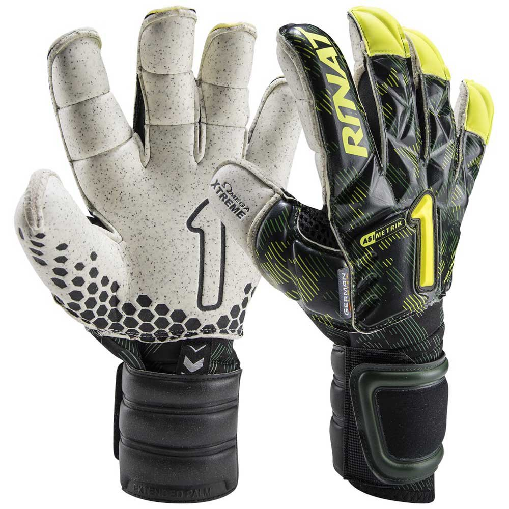 Rinat Asimetrik Hunter Pro Goalkeeper Gloves 7 Black / White / Yellow