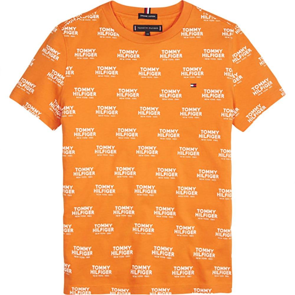 Tommy Hilfiger Kids All Over Print Logo 16 Years Russet Orange