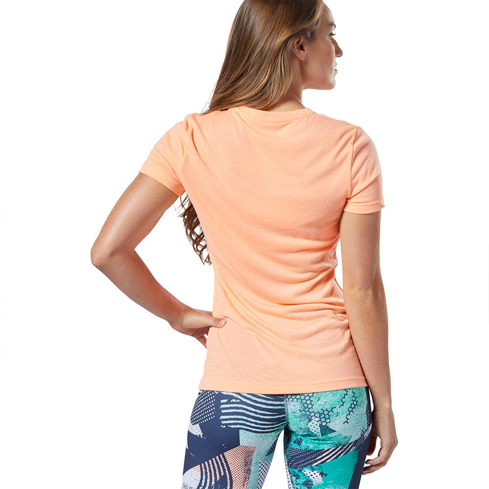 Reebok-Forging-Elite-Fitness-Speedwick-Orange-T43763-T-Shirts-Femme-Orange miniature 8