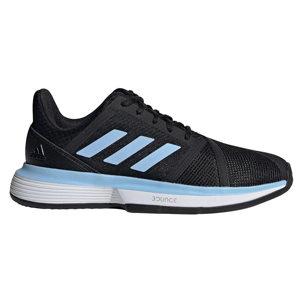 Adidas Courtjam Bounce Clay EU 38 2/3 Core Black / Bright Blue / Ftwr White