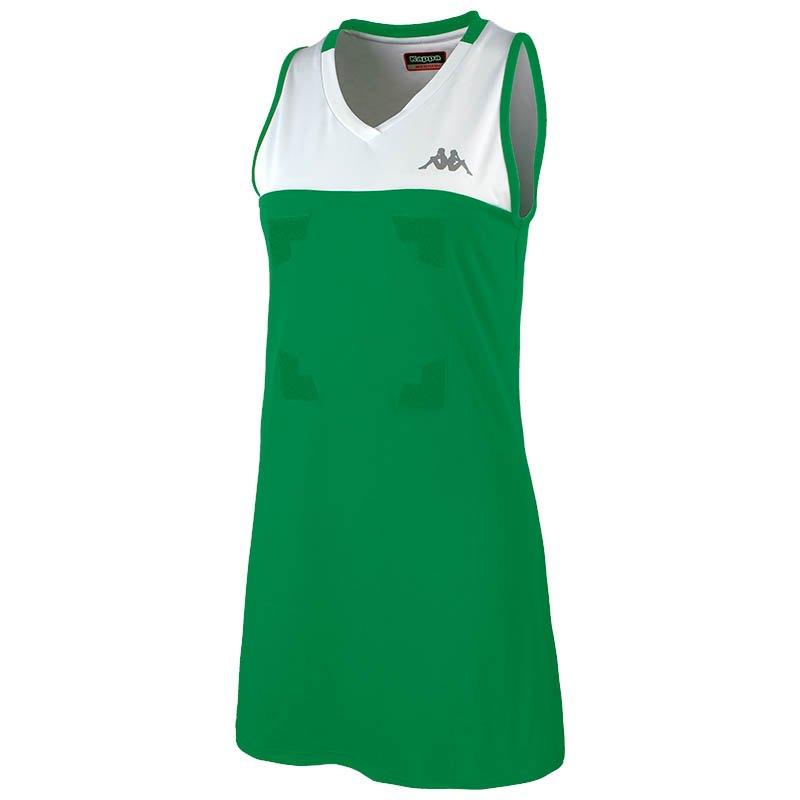 Kappa Robe Courte Heleni Front Velcro 10 Years Green / White