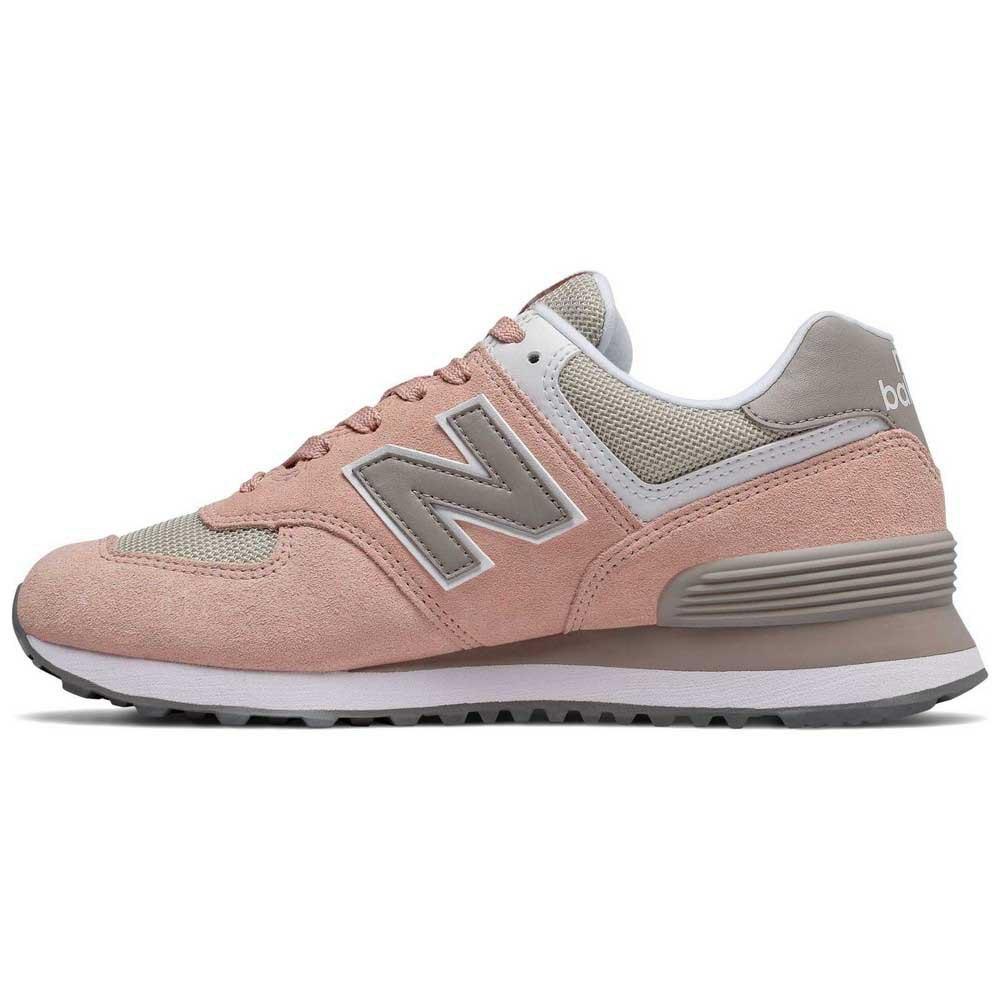 new balance 574 rosa mujer