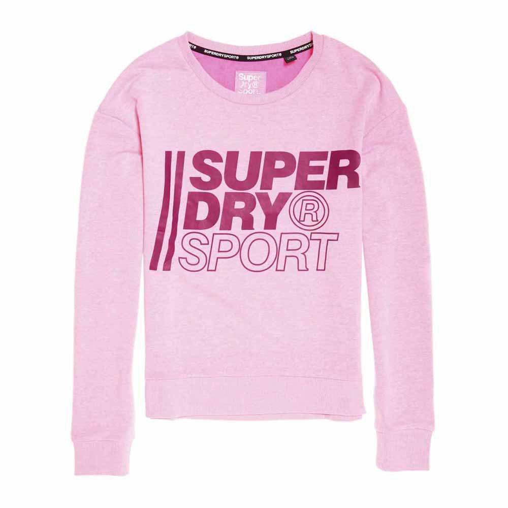 Superdry Core Sport Crew XS Sugar Pink Marl