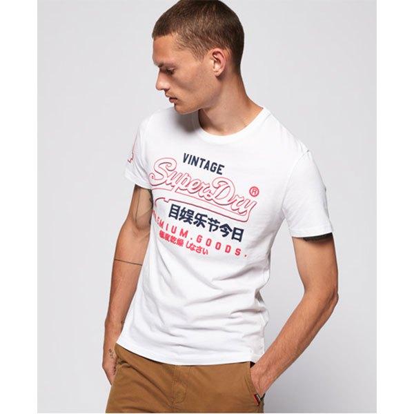 Détails sur Superdry Premium Goods Outline Mid Blanc T78245 T Shirts Homme Blanc , T Shirts