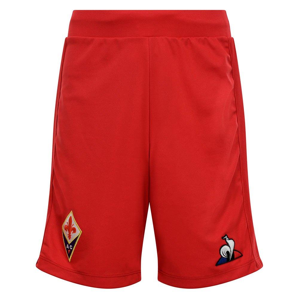Le Coq Sportif Le Short Ac Fiorentina Extérieur Pro 19/20 Junior 10 Years Vintage Red