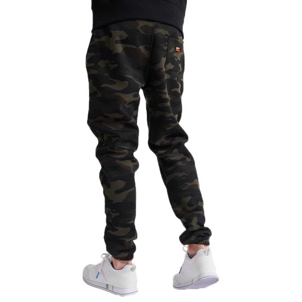 Superdry-Vintage-Logo-Camo-Jogger-Vert-T26762-Pantalons-Homme-Vert-Pantalons miniature 8
