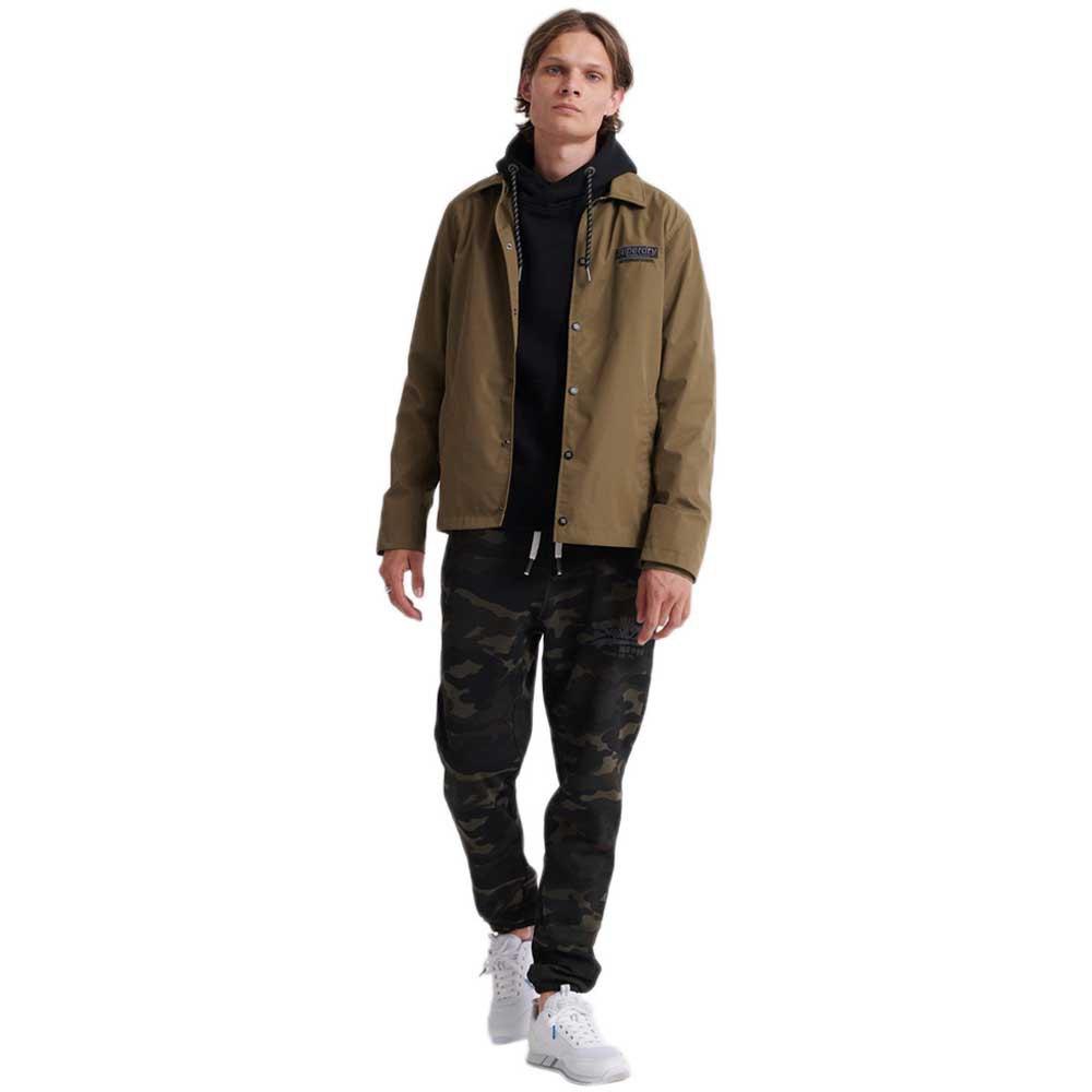 Superdry-Vintage-Logo-Camo-Jogger-Vert-T26762-Pantalons-Homme-Vert-Pantalons miniature 9