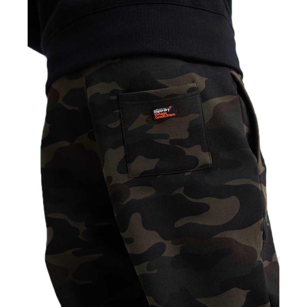 Superdry-Vintage-Logo-Camo-Jogger-Vert-T26762-Pantalons-Homme-Vert-Pantalons miniature 11