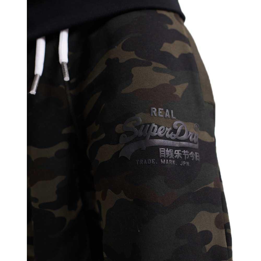 Superdry-Vintage-Logo-Camo-Jogger-Vert-T26762-Pantalons-Homme-Vert-Pantalons miniature 12