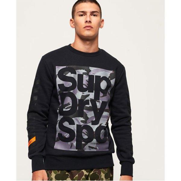 Superdry Sweatshirt Combat Boxer Crew XS Black