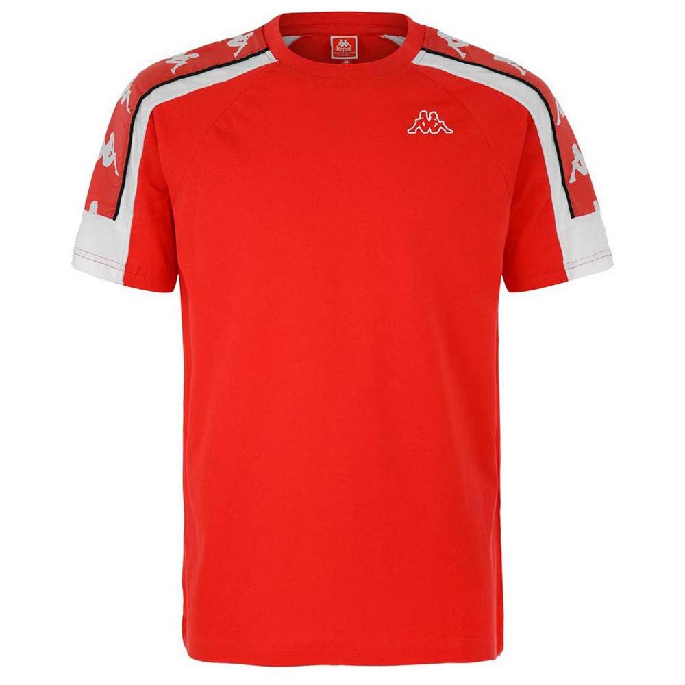 Kappa T-shirt Manche Courte Arset XS Red Fire / White