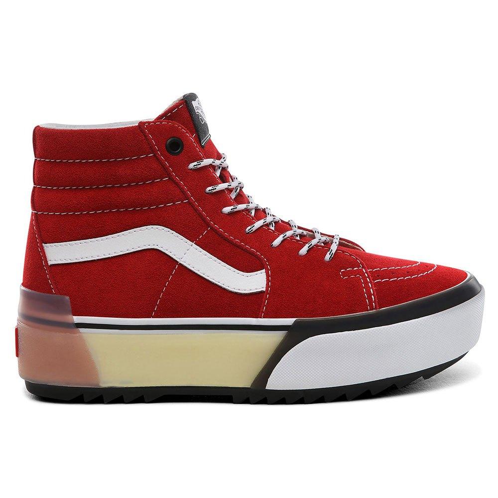 Detalles de Vans Sk8 hi Stacked Rojo T73951 Zapatillas Rojo , Zapatillas Vans , moda