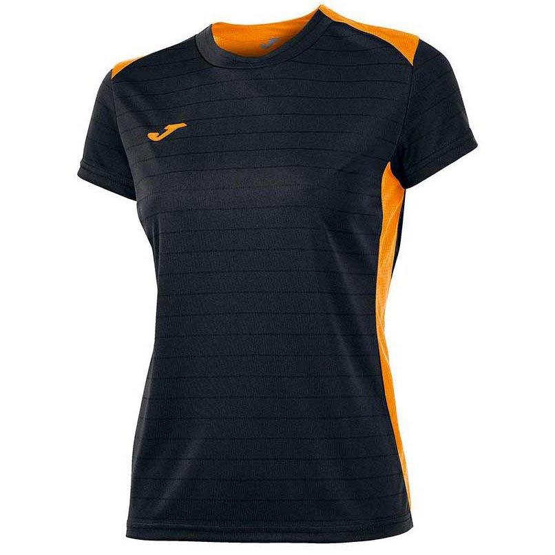 Joma T-shirt Manche Courte Campus Il 11-12 Years Black / Orange Fluor