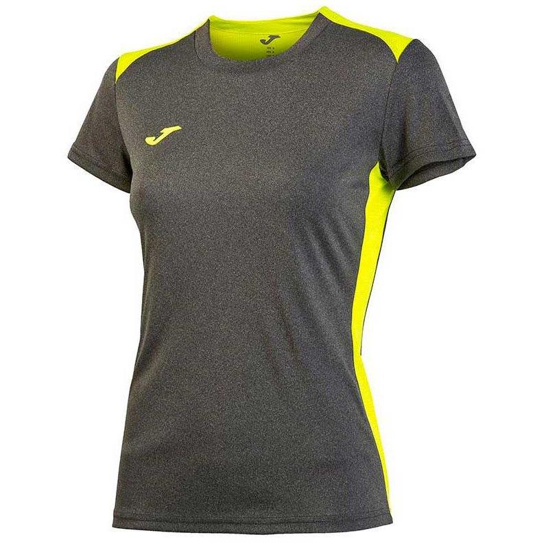 Joma T-shirt Manche Courte Campus Il 11-12 Years Dark Melange / Yellow