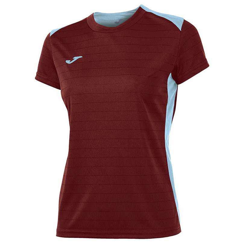 Joma T-shirt Manche Courte Campus Il 11-12 Years Ruby / Sky Blue