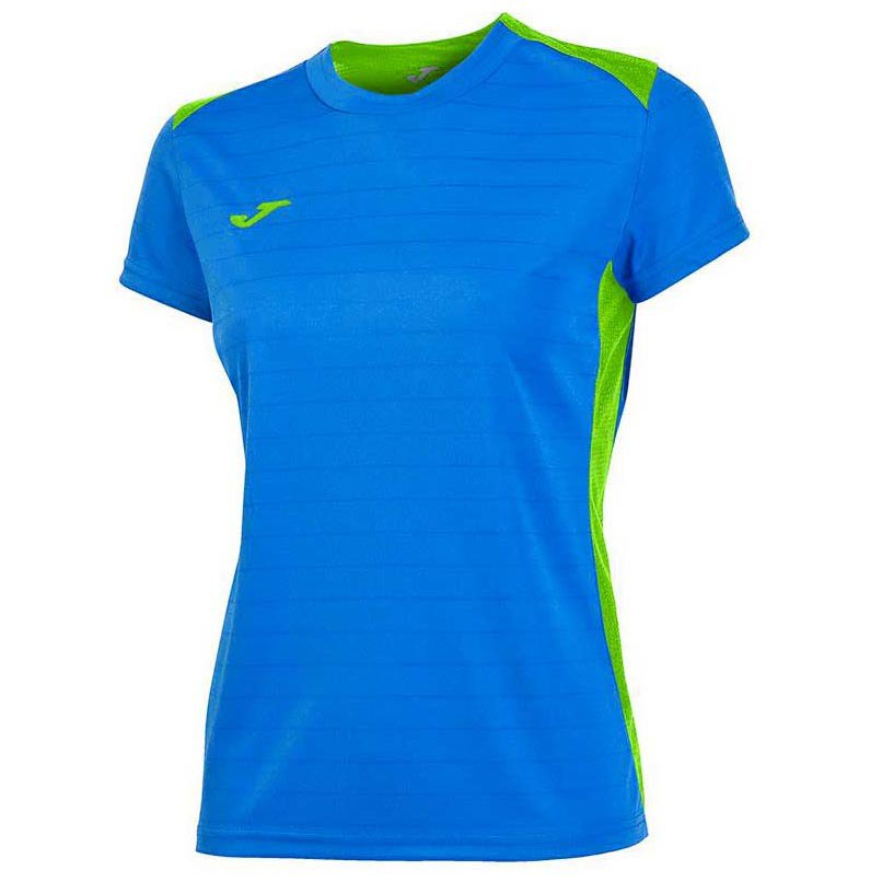 Joma T-shirt Manche Courte Campus Il 11-12 Years Royal / Green Fluor