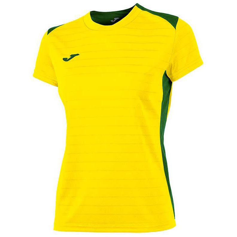 Joma T-shirt Manche Courte Campus Il 11-12 Years Yellow / Green