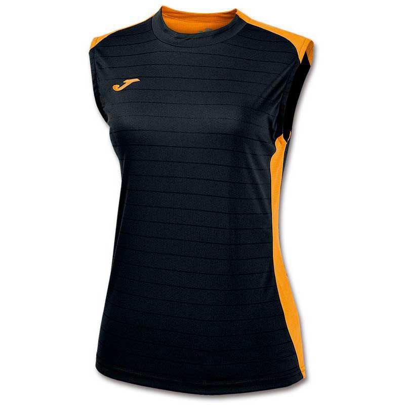 Joma T-shirt Sans Manches Campus Il 11-12 Years Black / Orange