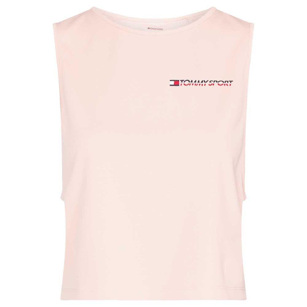 Tommy Hilfiger Sportswear Cropped Tank Top Logo L Pink