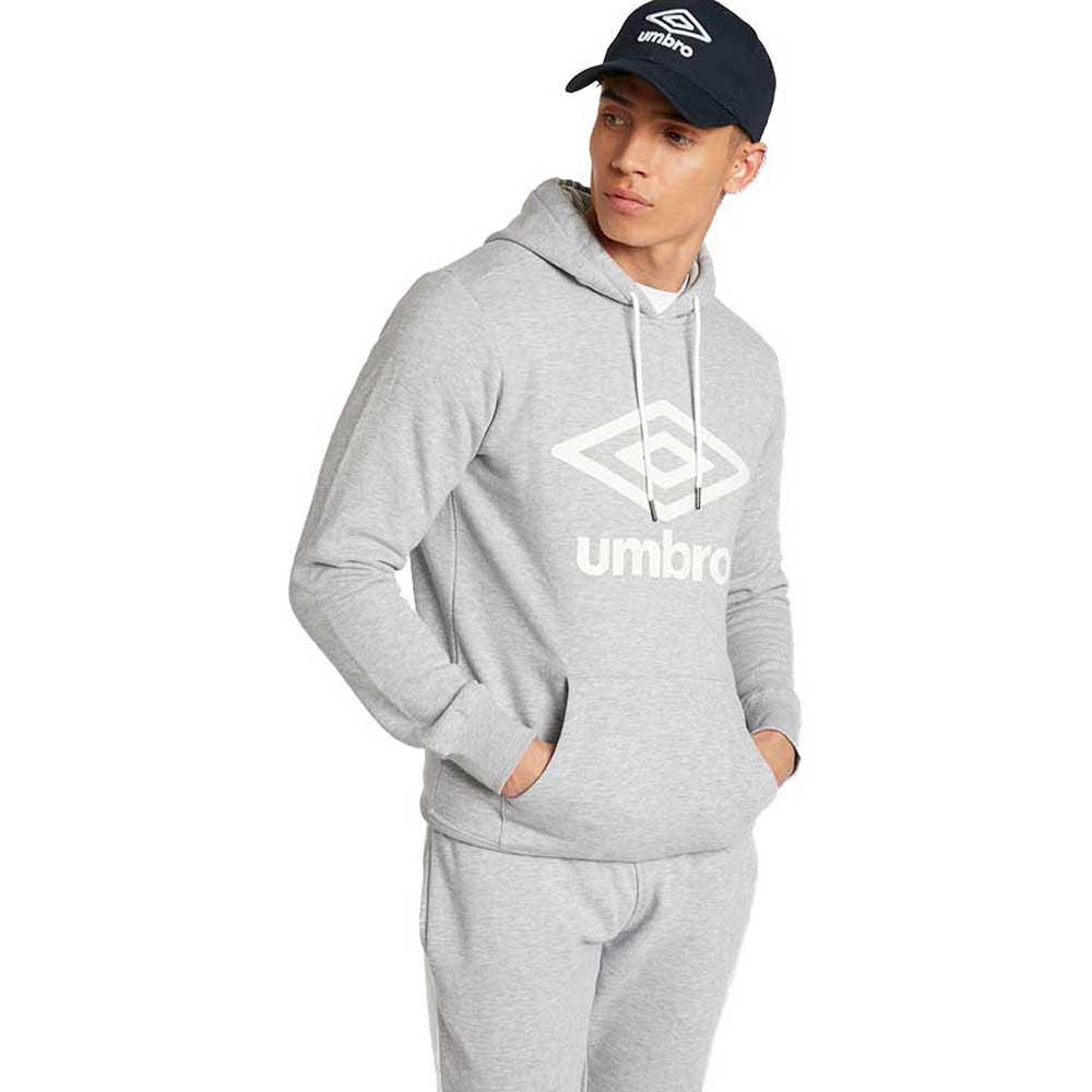 Umbro Sweat À Capuche Large Logo Oh XXL Grey Marl