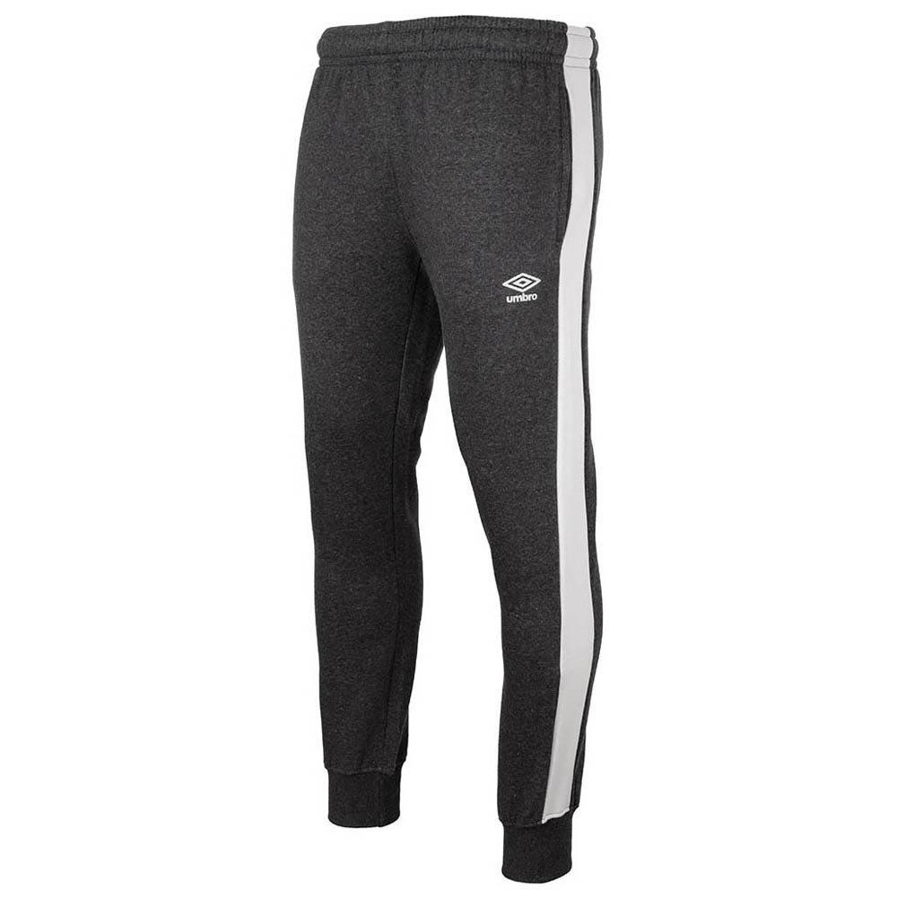 Umbro Pantalon Longue Tapered Fleece Jogger M Charcoal Marl / Brilliant White