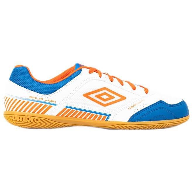 Umbro Chaussures Football Salle Sala Ii Liga In EU 40 White / Tangerine Tango / Regal Blue
