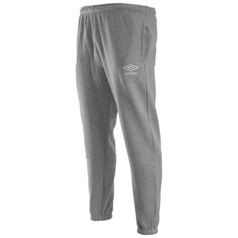 Umbro Fleece Jogger S Grey Marl / White