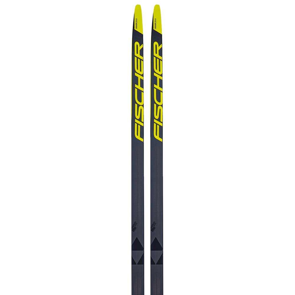 Fischer Carbonlite Classic Plus Medium Ifp Nordic Skis 187 Grey / Yellow