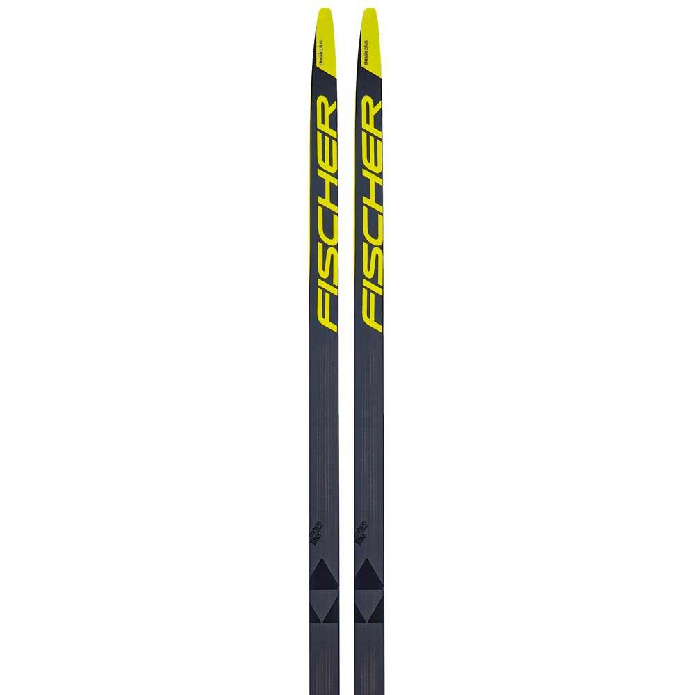 Fischer Carbonlite Classic Plus Stiff Ifp Nordic Skis 202 Grey / Yellow