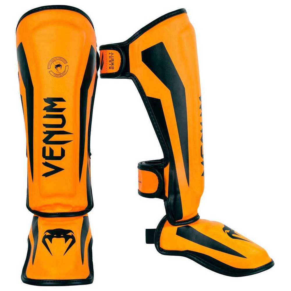 Venum Elite Shin Guards S Orange fluo
