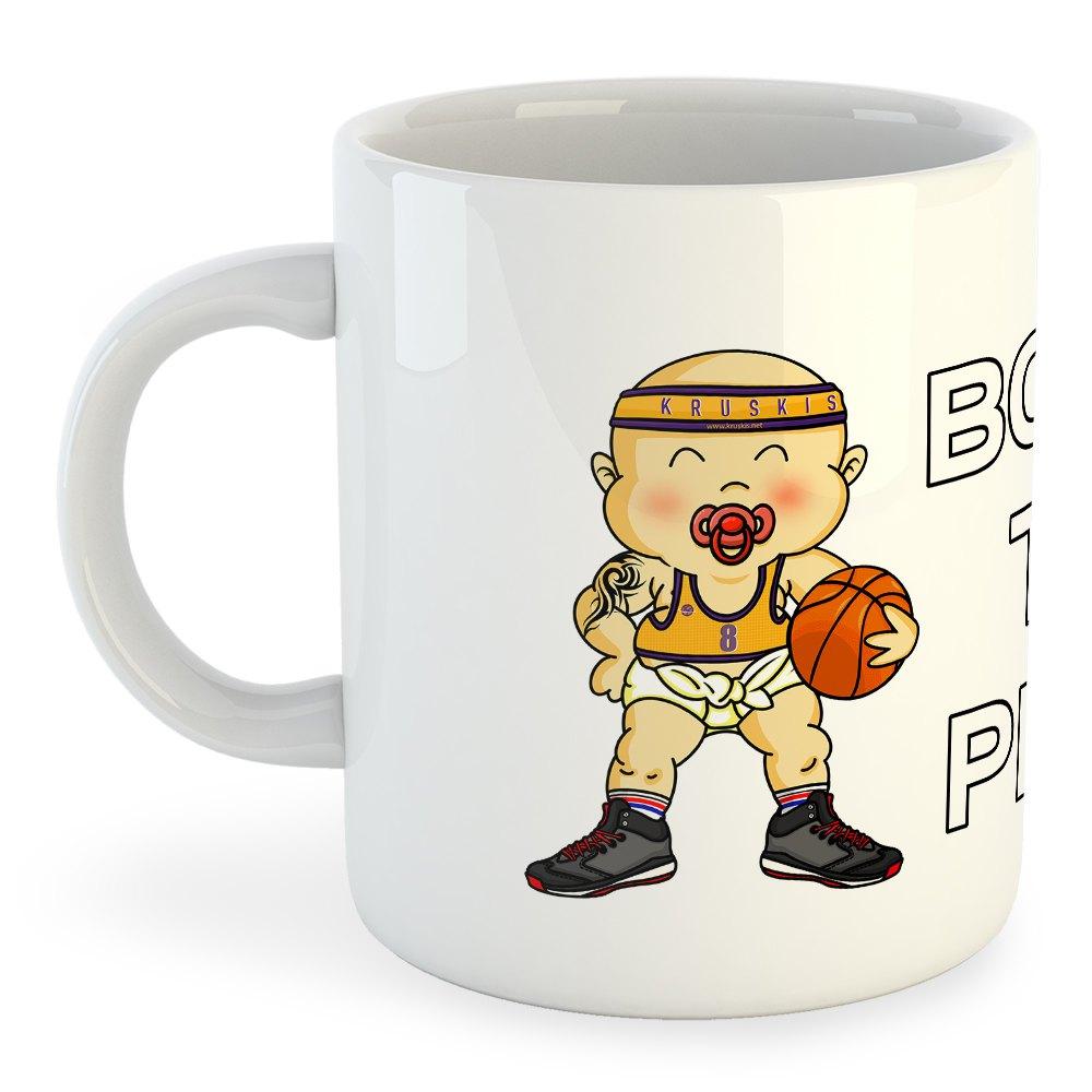 Kruskis Born To Play Basketball 325ml One Size White