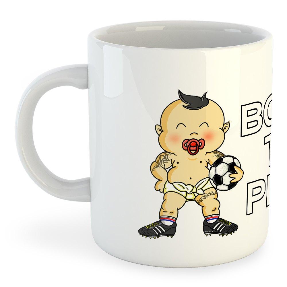 Kruskis Born To Play Football 325ml One Size White