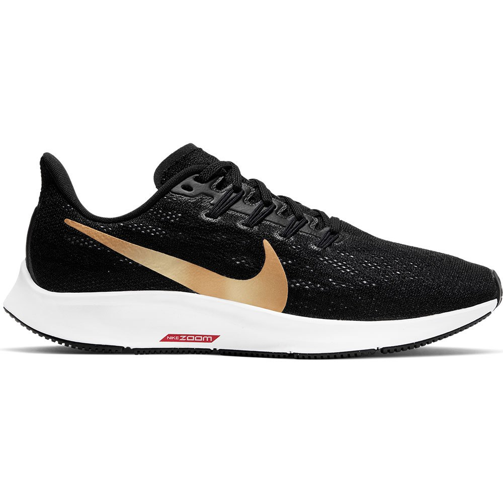 Nike Air Zoom Pegasus 36 EU 36 Black / Metallic Gold / University Red / White