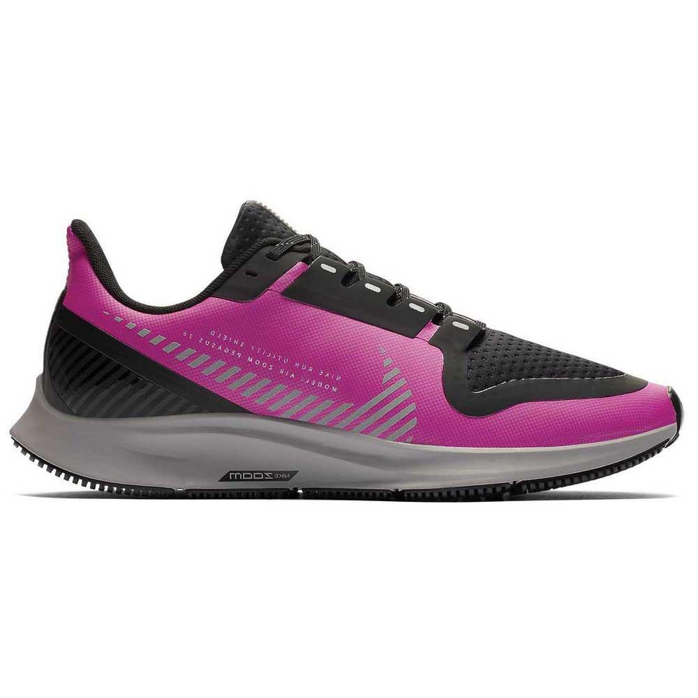 Nike Air Zoom Pegasus 36 Shield EU 37 1/2 Fire Pink / Silver / Black / Atmosphere Grey