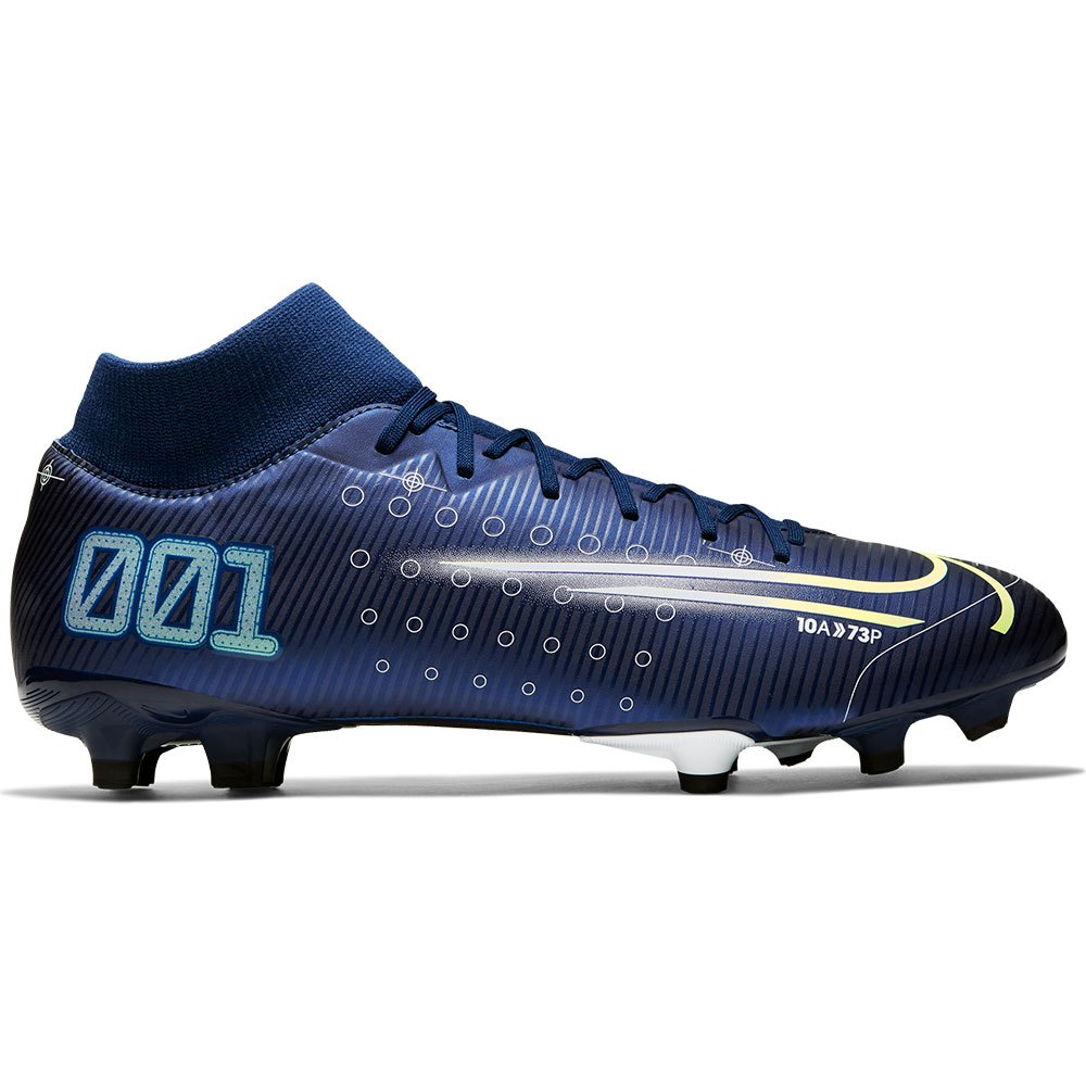 Nike Mercurial Superfly Vii Academy Mds Fg/mg EU 42 Blue Void / Metallic Silver / White / Black