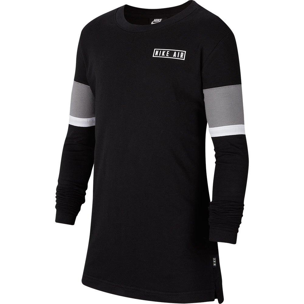 Nike Air T-shirt Manche Longue M Black / Dark Steel Grey / White / White