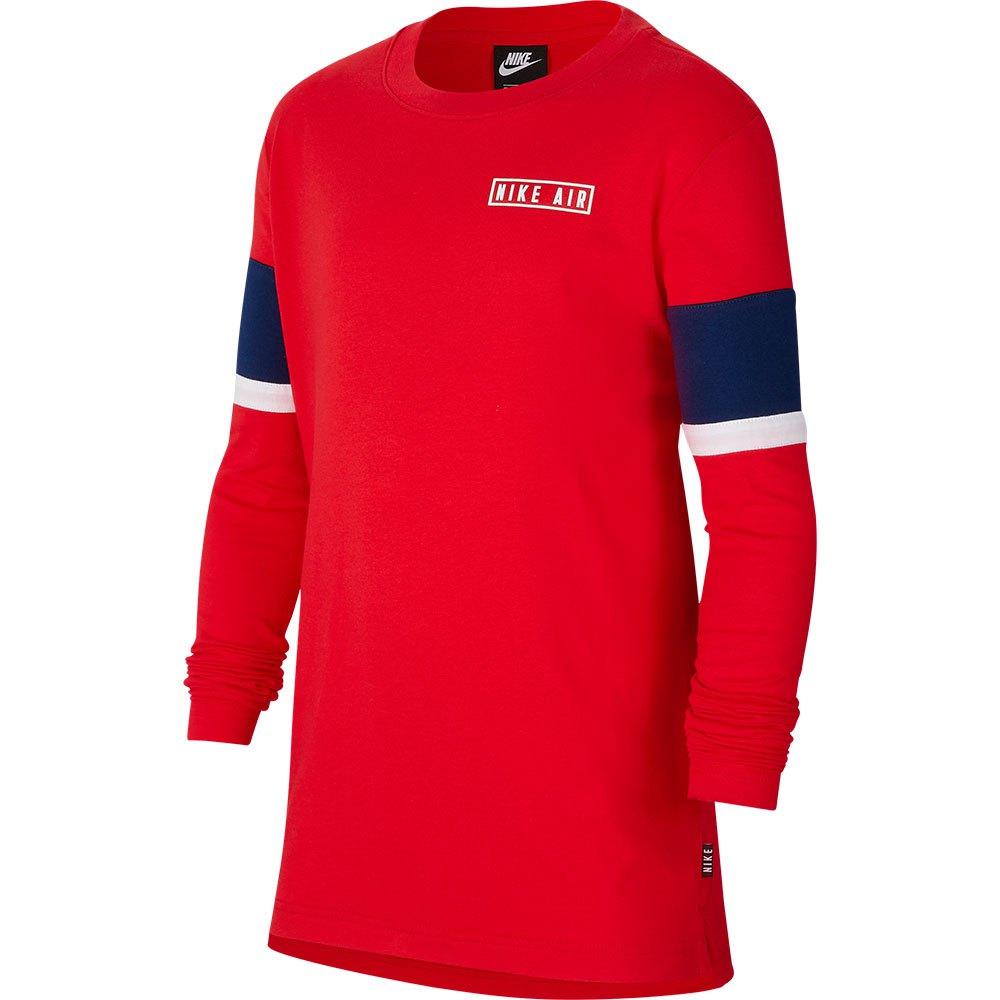 Nike Air T-shirt Manche Longue L University Red / Blue Void / White / White