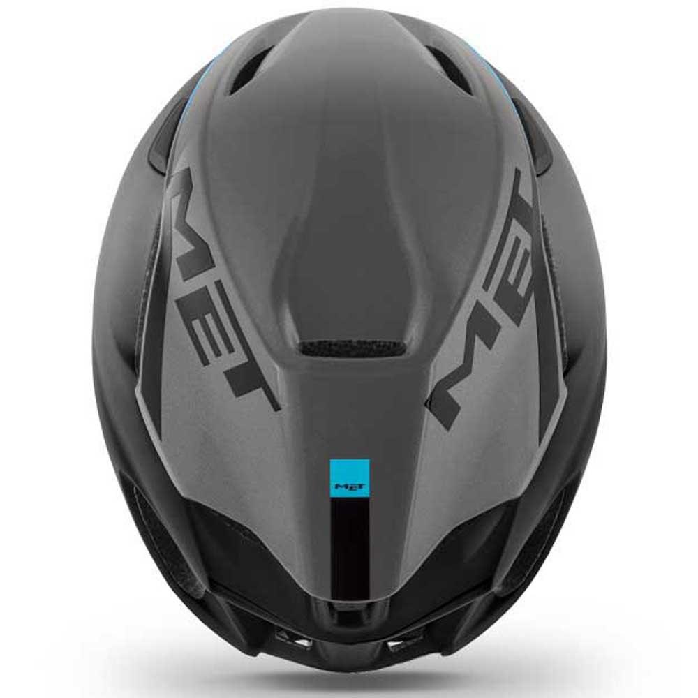 Met-Manta-Gris-T86092-Cascos-Unisex-Gris-Cascos-Met-ciclismo-Protecciones miniatura 8