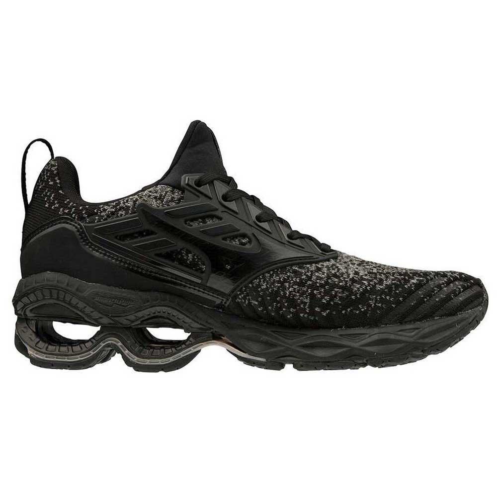 Mizuno-Wave-Creation-Waveknit-Negro-T21596-zapatillas-Running-Mujer-Negro miniatura 8