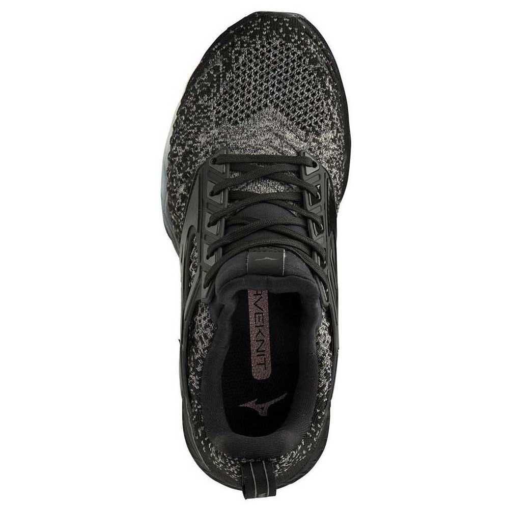 Mizuno-Wave-Creation-Waveknit-Negro-T21596-zapatillas-Running-Mujer-Negro miniatura 9