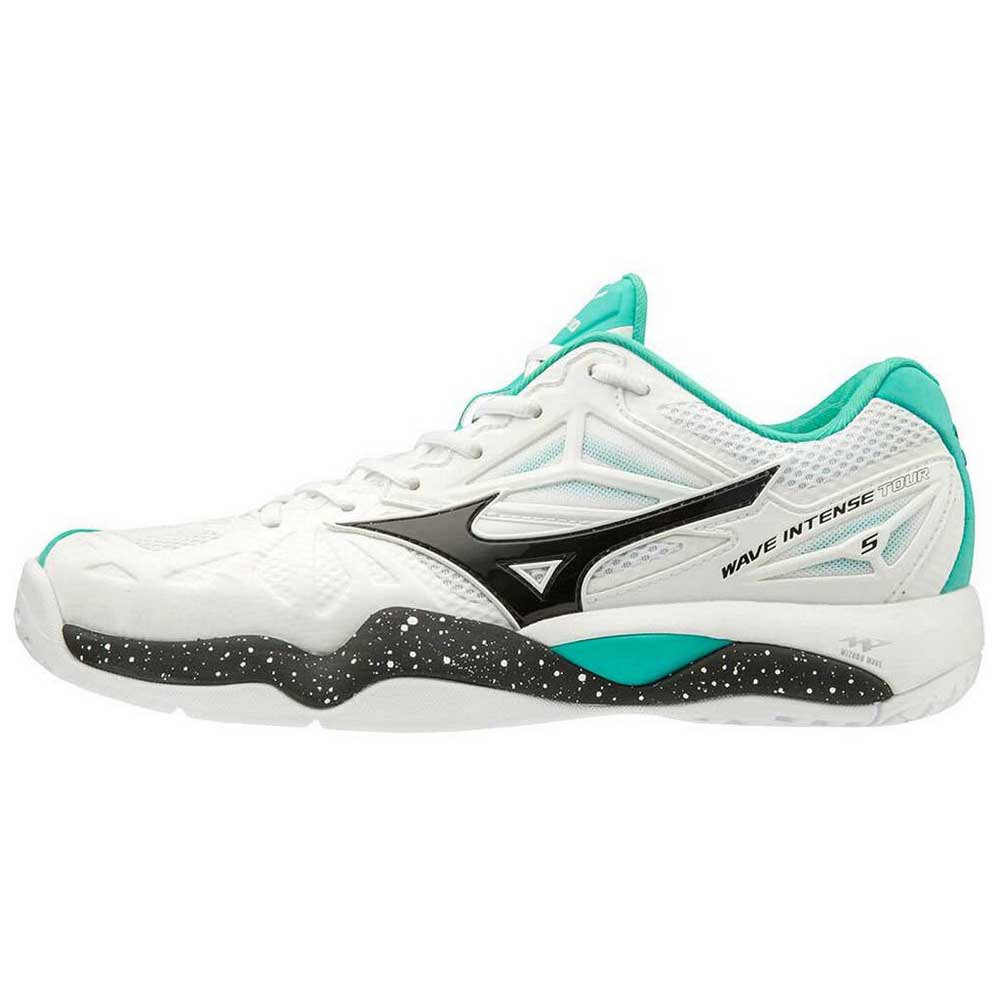 Mizuno Wave Inten Tour 5 Ac EU 42 White / Black / Atlantis