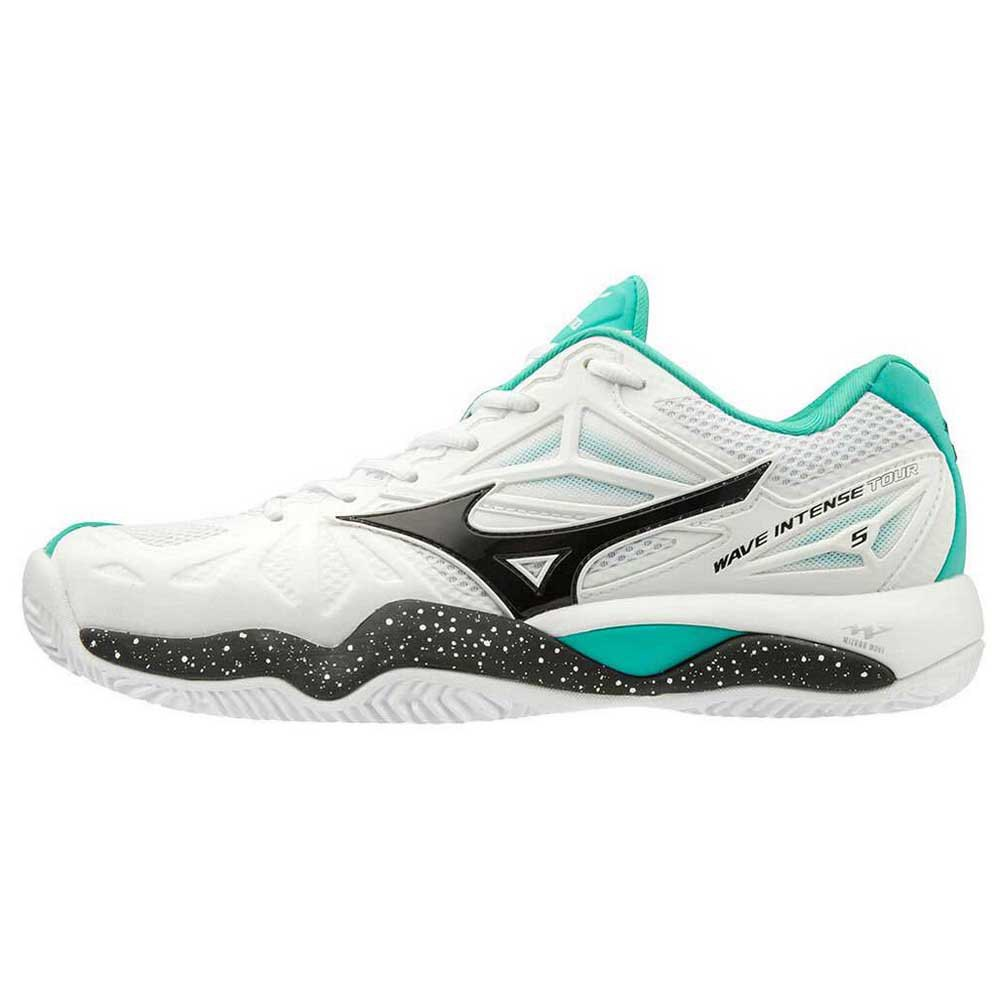 Mizuno Wave Intense Tour 5 Clay EU 41 White / Black / Atlantis
