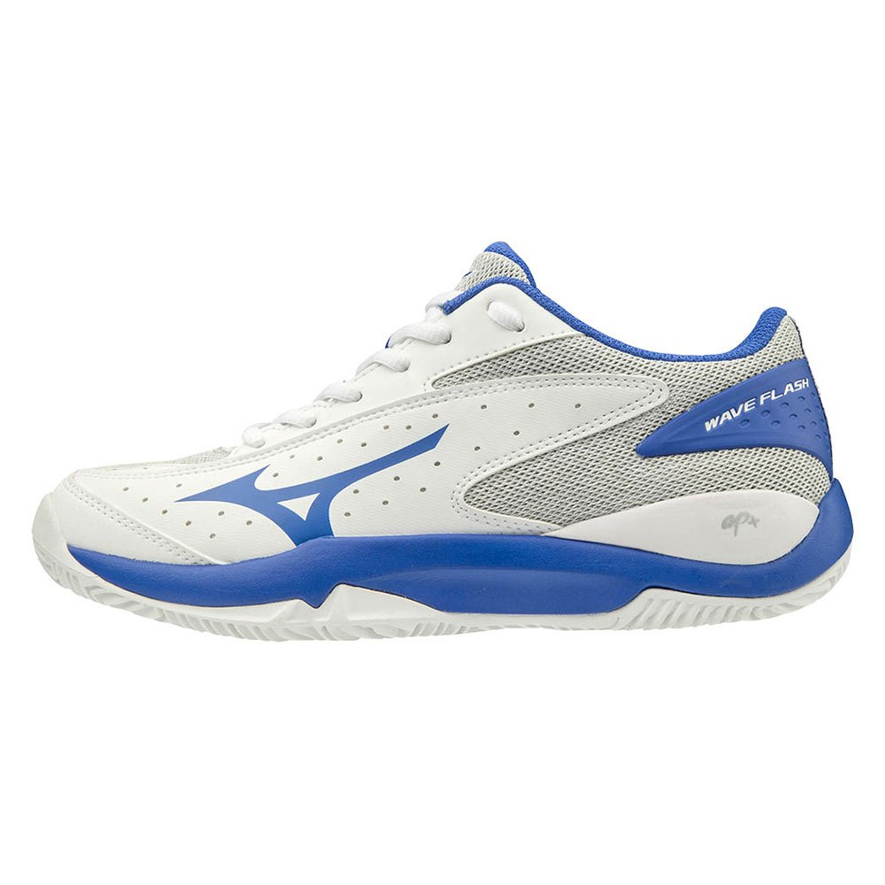 Mizuno Wave Flash Cc EU 40 1/2 White / Dazzling Blue / High Rise