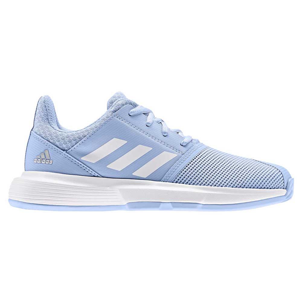 Adidas Courtjam Junior EU 38 2/3 Bright Blue / Ftwr White / Metal Silver