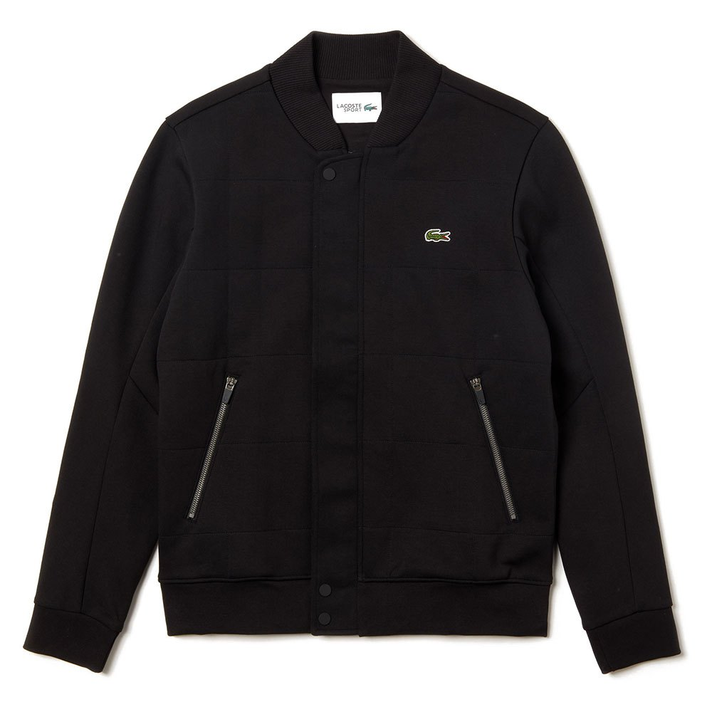 Lacoste Sport Quilted Effect Cotton Blend Fleece Teddy XXL Black