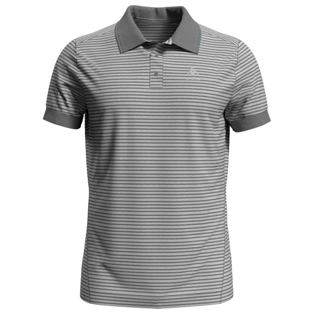 Odlo Nikko Dry XL Concrete Grey / Silver Grey / Stripes