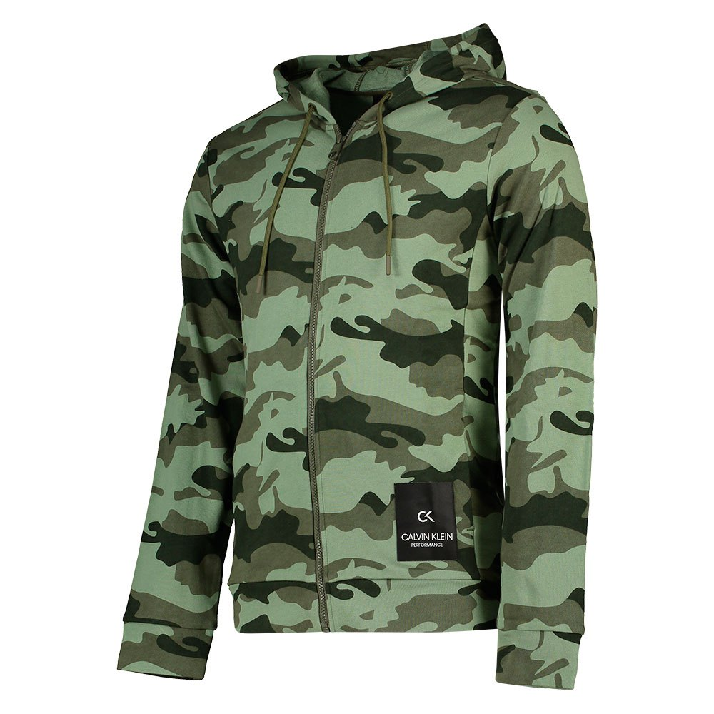 Calvin Klein Performance Full Zip Hooded L Grape Leaf Camo