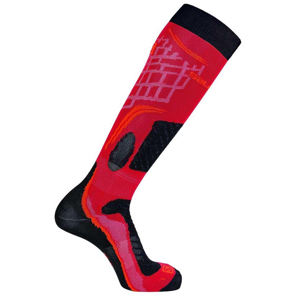 salomon-socks-x-pro-eu-36-38-valiant-poppy-cherry-tomato
