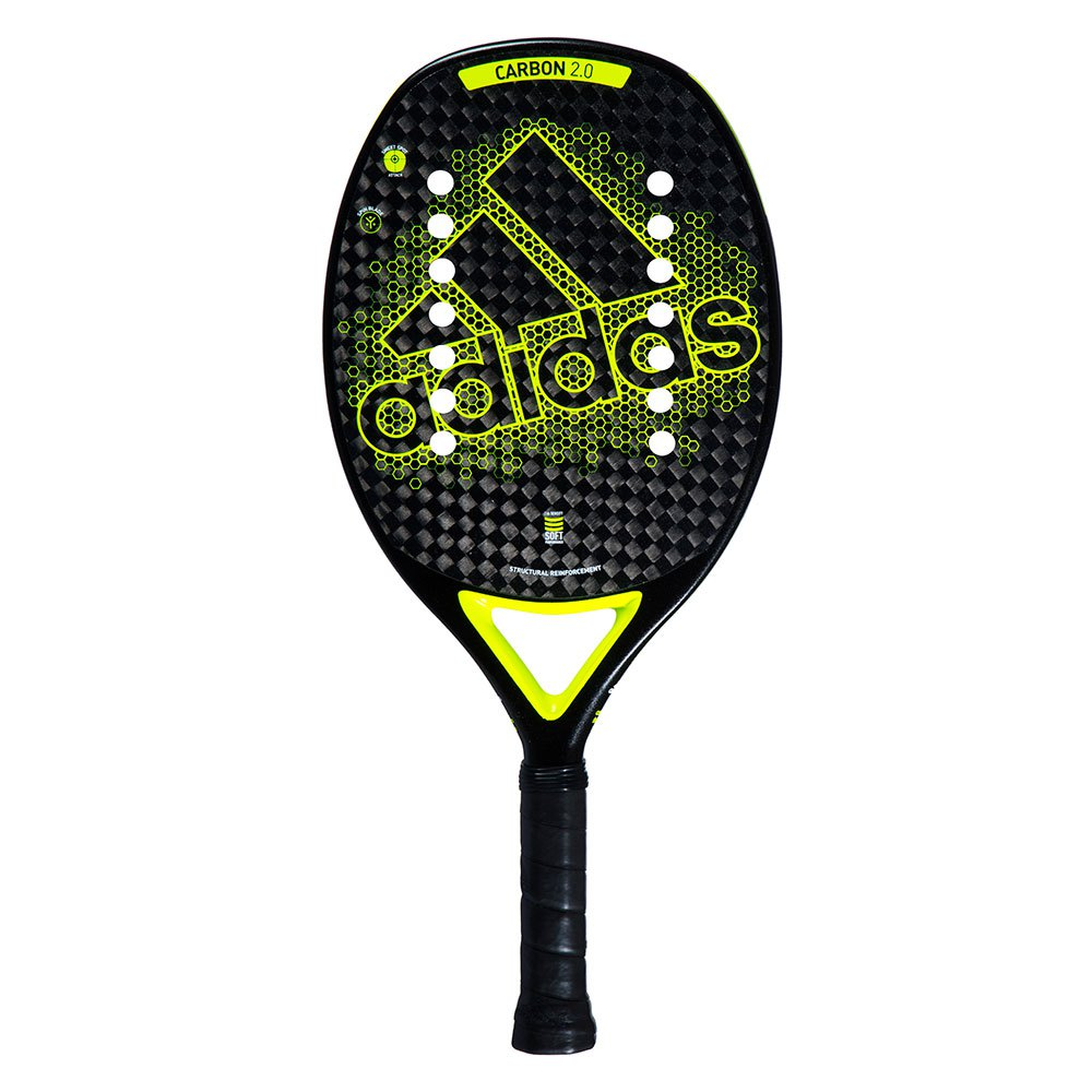 Adidas Padel Bt Carbon 2.0 One Size Black / Fluo Yellow