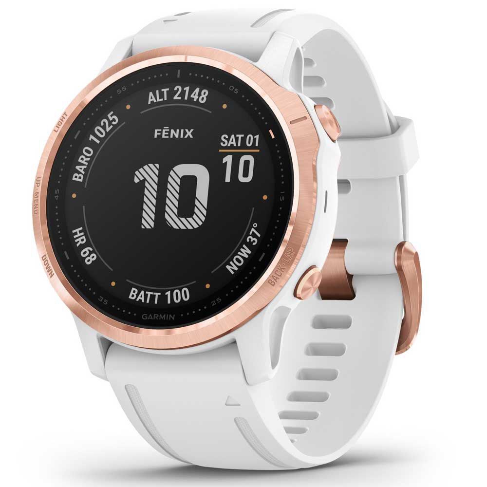 Garmin Fenix 6s Pro One Size Rose Gold / White